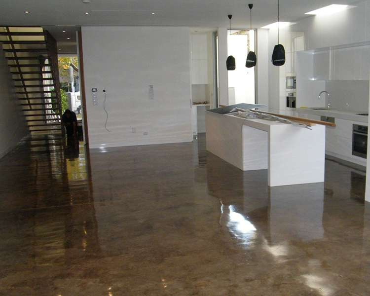 Acid stain flooring