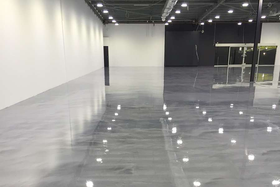 Clear Self-Levelling epoxy  with metallics. 5mm